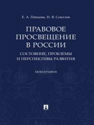 Правовое просвещение в России: состояние, проблемы и перспективы развития : монография ISBN 978-5-392-28815-1