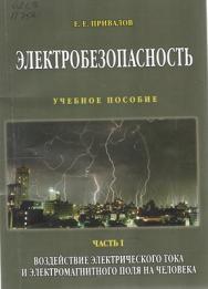 Электробезопасность. В 3-х ч. Ч. I. Воздействие электрического тока и электромагнитного поля на человека ISBN STGau0018